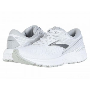 Brooks Adrenaline GTS 19 White/White/Grey [Clearance Sale]