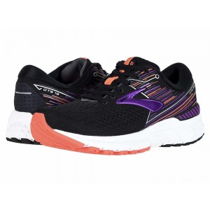 Brooks Adrenaline GTS 19 Black/Purple/Coral [Clearance Sale]