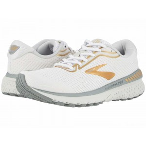 Brooks Adrenaline GTS 20 White/Grey/Gold [Clearance Sale]