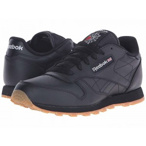 Reebok Kids Classic Leather (Big Kid) Black/Gum [Sale]