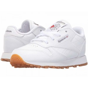 Reebok Kids Classic Leather Gum (Infant/Toddler) White/Gum [Sale]