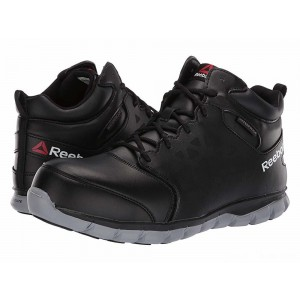 Reebok Work Sublite Cushion Work Mid Comp Toe EH Black/Grey [Sale]