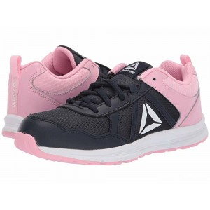 Reebok Kids Almotio 4.0 (Little Kid/Big Kid) Navy/Light Pink [Sale]