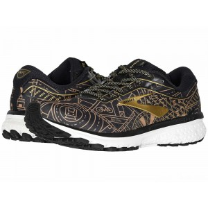 Brooks Ghost 12 Black/Gold/White [Clearance Sale]