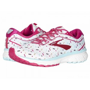 Brooks Zappos 20th x Ghost 12 White/Beetroot/Turquoise [Clearance Sale]