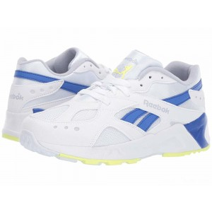 Reebok Kids Aztrek (Big Kid) White/Grey/Cobalt/Lime [Sale]