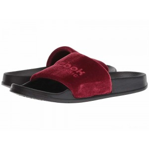 Reebok Lifestyle Classic Slide Collegiate Burgundy/Cranberry Red/Black/White/Velvet [Sale]