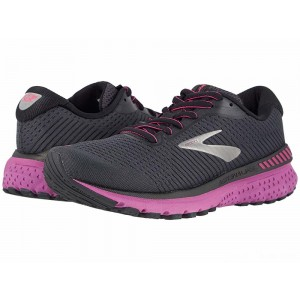 Brooks Adrenaline GTS 20 Ebony/Black/Hollyhock [Clearance Sale]