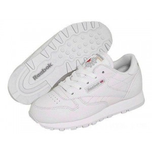 Reebok Kids Classic Leather (Little Kid) White [Sale]
