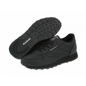 Reebok Kids Classic Leather (Big Kid) Black [Sale]