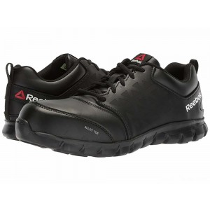 Reebok Work Sublite Cushion Work EH Black Leather [Sale]
