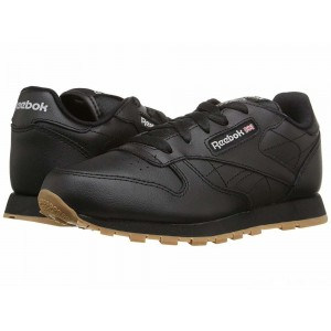 Reebok Kids Classic Leather (Little Kid) Black/Gum [Sale]