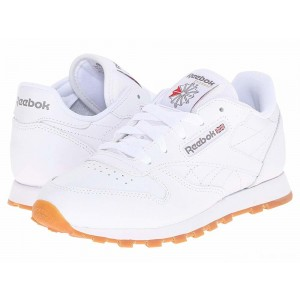 Reebok Kids Classic Leather (Little Kid) White/Gum [Sale]
