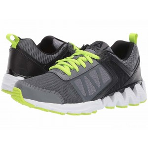 Reebok Kids ZigKick 2K18 (Big Kid) Alloy/Black/Lime [Sale]