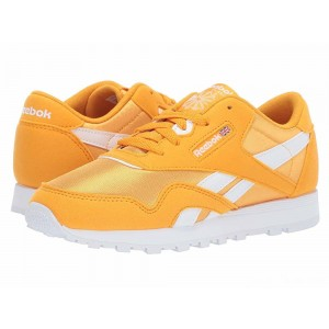 Reebok Kids Classic Nylon MU (Little Kid) Gold/White [Sale]