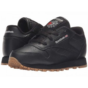 Reebok Kids Classic Leather Gum (Infant/Toddler) Black/Gum [Sale]