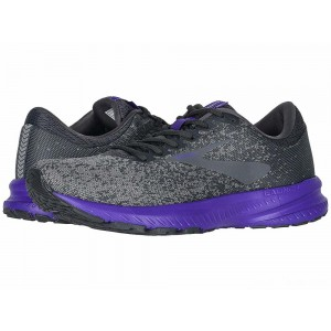 Brooks Launch 6 Ebony/Shark/Violet [Clearance Sale]
