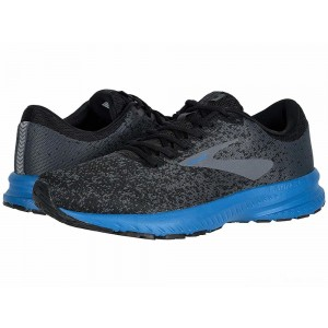 Brooks Launch 6 Black/Ebony/Deep Water [Clearance Sale]