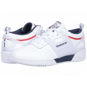 Reebok Lifestyle Workout ULS L White/Collegiate Navy/Primal Red [Sale]