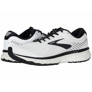 Brooks Ghost 12 White/Grey/Black [Clearance Sale]