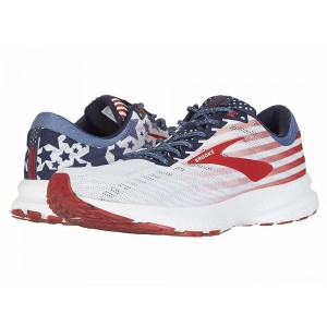 Brooks Launch 6 White/Blue/Red [Clearance Sale]