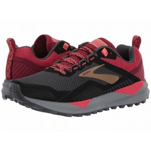 Brooks Cascadia 14 Black/Rumba Red/Coral [Clearance Sale]