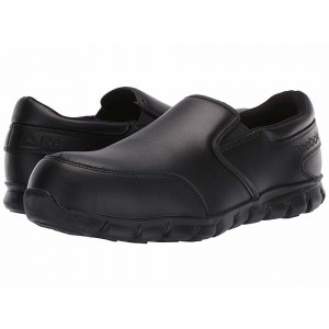 Reebok Work Sublite Cushion Work Comp Toe ESD Slip On Black [Sale]