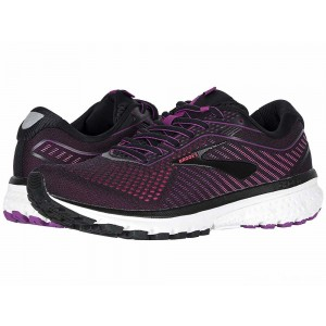 Brooks Ghost 12 Black/Hollyhock/Pink [Clearance Sale]