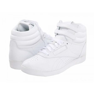 Reebok Lifestyle Freestyle Hi White/White/White [Sale]