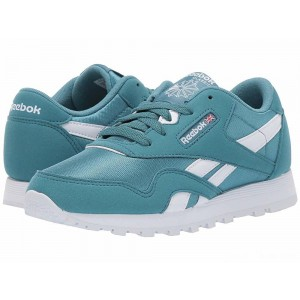 Reebok Kids Classic Nylon MU (Little Kid) Mineral Mist/White [Sale]
