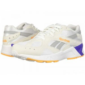 Reebok Lifestyle Aztrek White/True Grey/Solar Gold/Team Purple [Sale]