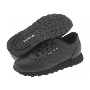 Reebok Kids Classic Leather (Little Kid) Black [Sale]