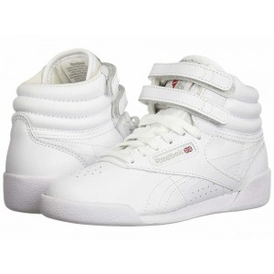 Reebok Kids Freestyle Hi (Little Kid) White [Sale]