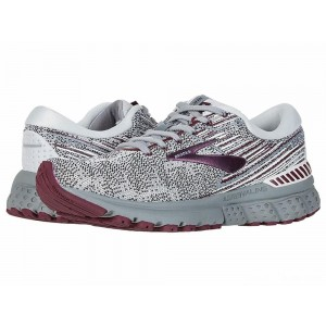 Brooks Adrenaline GTS 19 Grey/White/Fig [Clearance Sale]