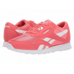 Reebok Kids Classic Nylon MU (Big Kid) Bright Rose/White [Sale]