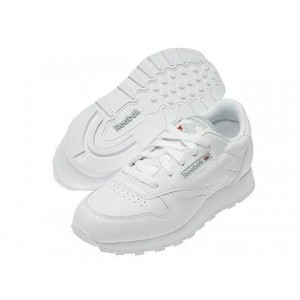 Reebok Kids Classic Leather (Big Kid) White [Sale]