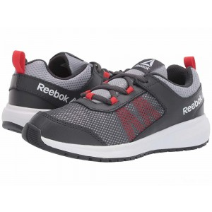 Reebok Kids Road Supreme (Little Kid/Big Kid) Grey/Shadow/Red/White [Sale]