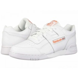 Reebok Lifestyle Workout Plus MU White/Bright Lava [Sale]