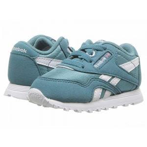 Reebok Kids Classic Nylon MU (Infant/Toddler) Mineral Mist/White [Sale]