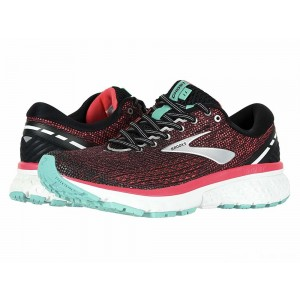 Brooks Ghost 11 Black/Pink/Aqua [Clearance Sale]
