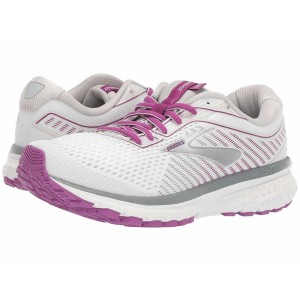 Brooks Ghost 12 White/Grey/Hollyhock [Clearance Sale]