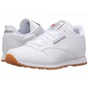 Reebok Kids Classic Leather (Big Kid) White/Gum [Sale]