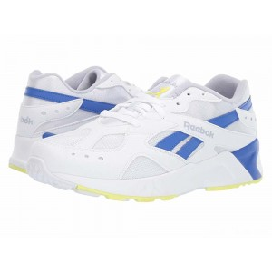 Reebok Lifestyle Aztrek White/Cold Grey/Crushed Cobalt/Neon Lime [Sale]