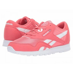 Reebok Kids Classic Nylon MU (Little Kid) Bright Rose/White [Sale]