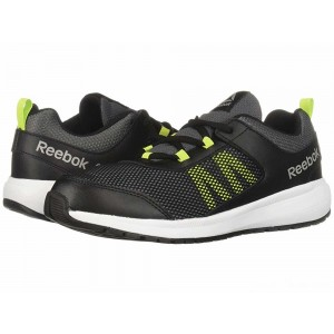 Reebok Kids Road Supreme (Little Kid/Big Kid) Black/Alloy/Lime/White/Pewter [Sale]