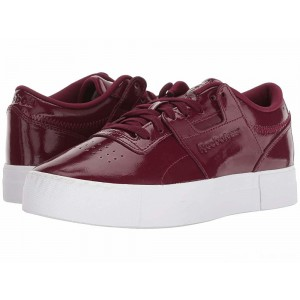 Reebok Lifestyle Workout Lo FVS Shiny Suede/Rustic Wine/White [Sale]