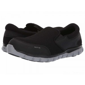 Reebok Work Sublite Cushion Work Alloy Toe EH Slip On Black [Sale]