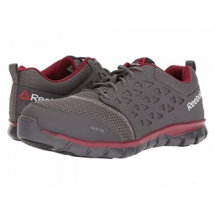 Reebok Work Sublite Cushion Work EH Grey/Red Synthetic [Sale]