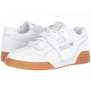 Reebok Lifestyle Workout Plus White/Carbon/Classic Red/Reebok Royal/Gum [Sale]