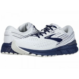 Brooks Adrenaline GTS 19 White/Grey/Navy [Clearance Sale]